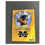 RARE 1999 Tom Brady GOLD ROOKIE CARD  Patriots Wo