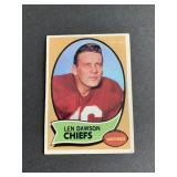 1970 Topps #1 Len Dawson  Kansas City Chiefs Purd