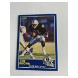 1989 Score Tim Brown ROOKIE CARD  Oakland Raiders