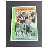 1978 Topps Walter Payton Highlights  Chicago Bear