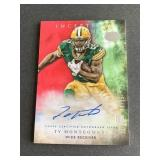 2015 Topps Inception Red Ty Montgomery ROOKIE 08/7