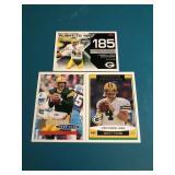 3 Brett Favre Cards, Topps 1996,2006& 07