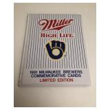 Milwaukee Brewers 1991 Miller limited edition card