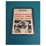 1961 Baseball Scoops Walter Johnson