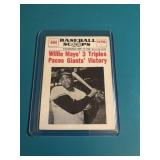 1961 Baseball Scoops Willie Mays