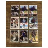 9 Card MLB Lot With RC