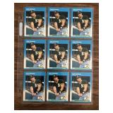 9 Card Jose Canseco RC Lot Fleer
