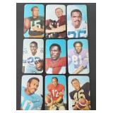 9 DIFFERENT 1970 Topps Super Football  Bart Starr