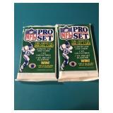 2 Sealed 1990 Pro Set Football Trading Packs