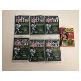 7 1990 Football Wax Packs 6 Pro Set 1 Topps