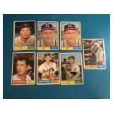 1961 Topps Milwaukee Braves Lot