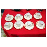 (8) G.D. & C Limoges demitasse cups & saucers