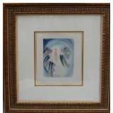 Salvador Dali aqua tint, signed, 11 x 13 inches