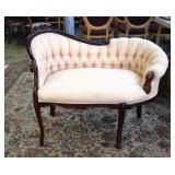 Victorian style cosy chair, 33 x 40 inches