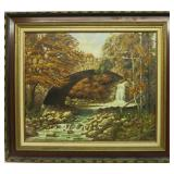 English school signed Ruffell oil on canvas