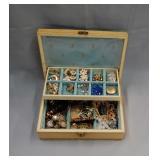 Assortment of costume jewellery in jewellery box