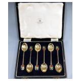 (6) Mappin & Webb sterling silver teaspoons in box