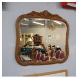Antique mirror, 25 x 26 inches