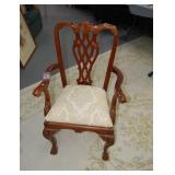 Upholstered arm chair, 24 x 30 inches