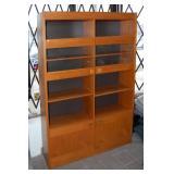 Danish style teak bookcase, 49 x 74 x 12 in.