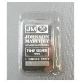 1-Ounce fine 999 silver bar