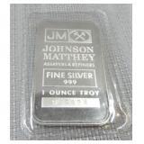 1-Ounce 999 fine silver bar