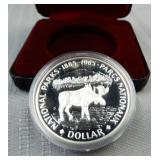 1985 Canada silver proof dollar, National Parks
