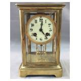 Samuel Marti, C1900, 8-day brass clock