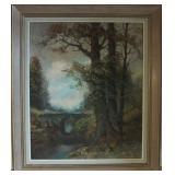 Wilhelm Brauer (b. 1924) landscape oil painting
