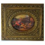 Print in ornate frame, 5 x 7 inches