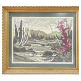 A.Y. Jackson silkscreen, 20 x 15 inches