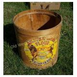 Bull Meat Brand Flour Barrel