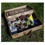 Suitcase of Quilt Pieces & Scraps