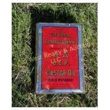 Castor Oil Tin - Has Oil In It