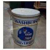 Large Washburn University Tin