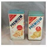 (2) Cracker Tins