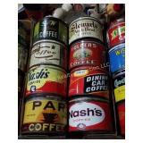 Box of Coffee Tins