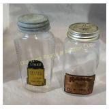 (2) Antique Jars