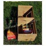 Crate of Pop Bottles - Coke, 7-Up & Squirt