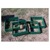 (2) Green Wall Shelves