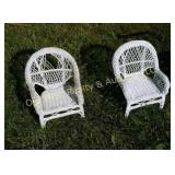 (2) Wicker Doll Chairs