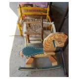 Doll Chairs & Rocking Horse