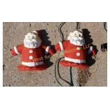 (2) Metal Santa Lights
