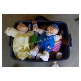 Tub of Cabbage Patch Dolls