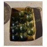 Box of Green Glasses
