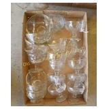 Box of Glasses & Sherbert Dishes