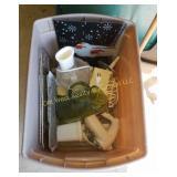 Tub of Kitchen Items