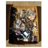 Box of Pins & Jewelry