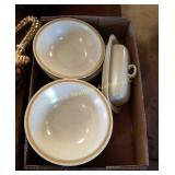 Box of Bowls & Butter Dish