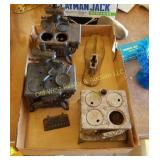 Box of Miniature Salesman Sample Stoves
